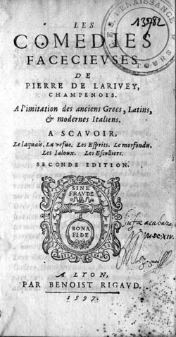 Pierre de larivey for Farcical google translate