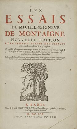 Les Essais [exemplaire annoté par J.-J. Rousseau]