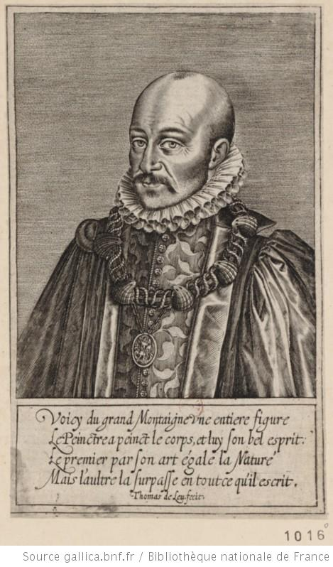 Portrait de Michel de Montaigne - source : Gallica, BnF